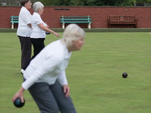Ladies playing bowls