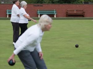 Ladies playing bowls